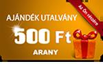 Tisztítószer Webáruház ajándék utalvány arany 500Ft (kicsi)