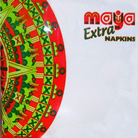 MAYA EXTRA 100 darab 1 rétegű hajtogatott szalvéta, fehér, 32 x 32 cm
