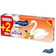 Wc papír Harmony Deluxe 8+2 barack, cellulóz, 3 rétegű