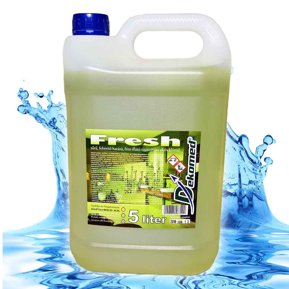 Dekomed fresh friss illatú tisztítószer aktív klóros 5 literes
