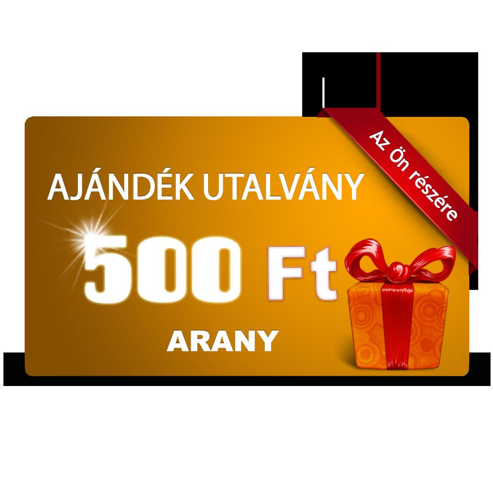 Tisztítószer Webáruház ajándék utalvány arany 500Ft