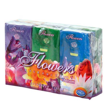 Papír zsebkendő Harmony flowers Tisztítószer Webáruház