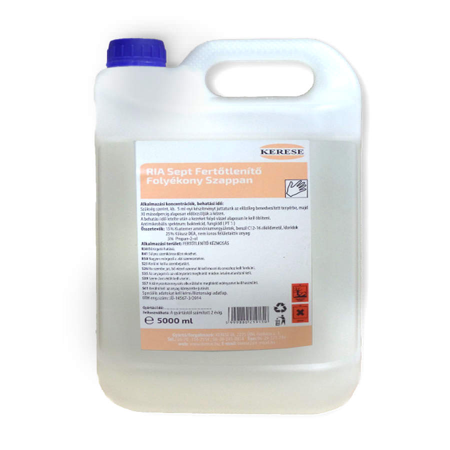 Ria Sept 5 Literes fertőtlenítő szappan Tisztítószer Webáruház