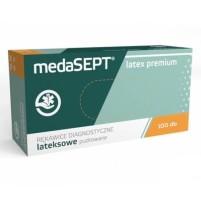 Medasept egyszer használatos LATEX kesztyű 100 db-os