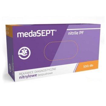 Medasept egyszer használatos NITRILE PF kesztyű 100 db-os