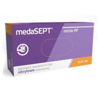 Medasept egyszer használatos NITRILE PF kesztyű 200 db-os