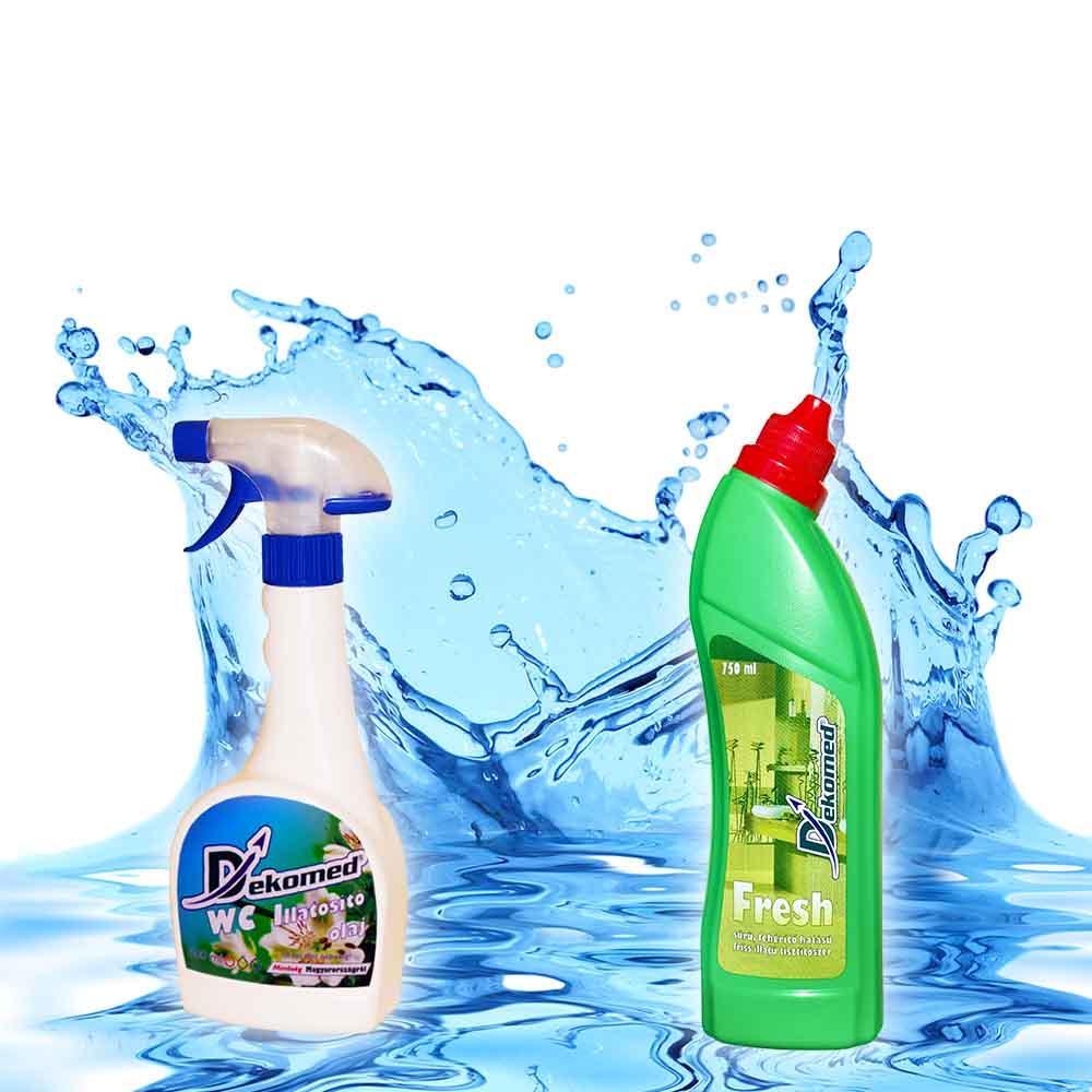 Dekomed 0,5L-es szórófejes WC illatosító és Fresh fertőtlenítő -20%-os AKCIÓ!