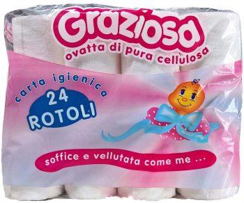 Graziosa 2 rétegű toalett WC papír