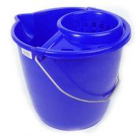 Felmosó vödör csavarókosárral 12 liter-kék