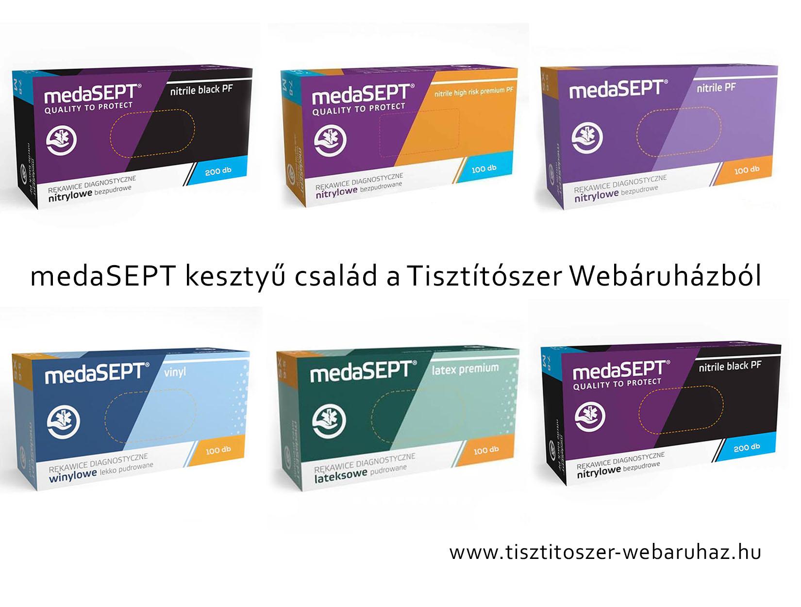 medaSEPT kesztyű család a Tisztítószer Webáruházból