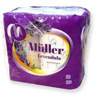 Müller Toalett WC papír 3 rétegű mézes levendula illatú 8 tekercses
