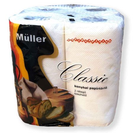 Müller classic háztartási papírtörlő 2 rétegű 4 tekercses