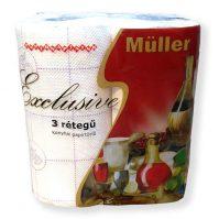 Müller exclusive háztartási papírtörlő 3 rétegű 2 tekercses